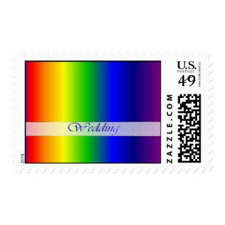 Sello medio de los colores del arco iris del boda