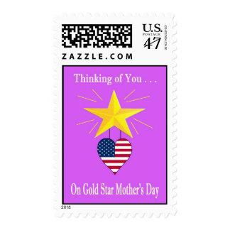 Sello militar del día de madre de la estrella de