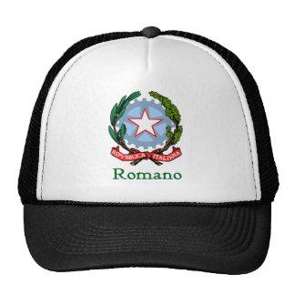 Sello nacional italiano del romano gorra