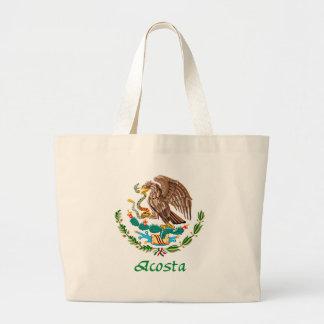 Sello nacional mexicano de Acosta Bolsa Tela Grande