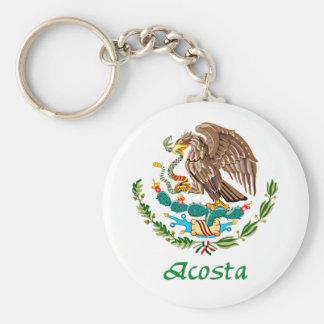 Sello nacional mexicano de Acosta Llavero Redondo Tipo Pin
