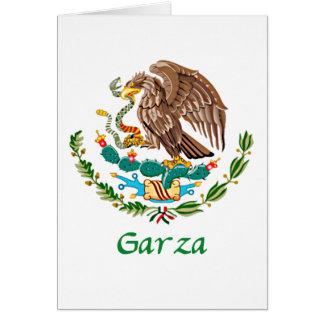 Sello nacional mexicano de Garza Tarjeta De Felicitación