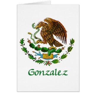 Sello nacional mexicano de Gonzalez Tarjeta De Felicitación
