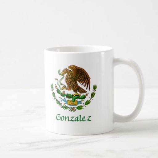 Sello nacional mexicano de Gonzalez Tazas De Café