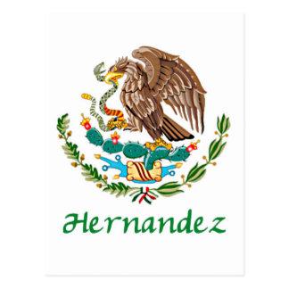 Sello nacional mexicano de Hernández Tarjeta Postal