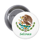 Sello nacional mexicano de las salinas pin redondo de 2 pulgadas