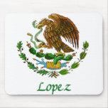 Sello nacional mexicano de López Alfombrillas De Ratones
