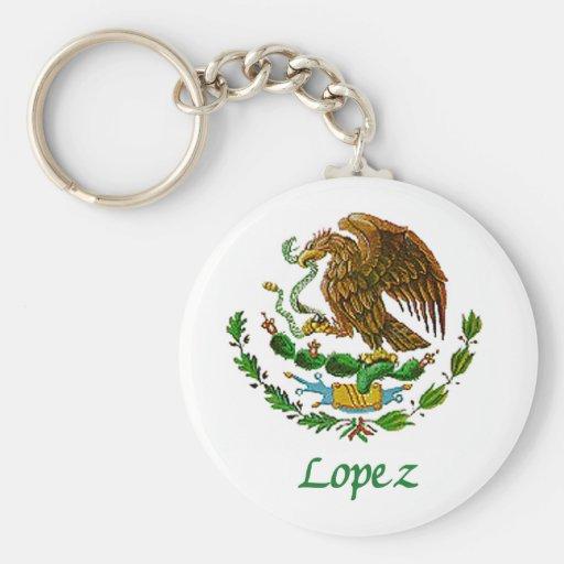 Sello nacional mexicano de López Llavero Personalizado