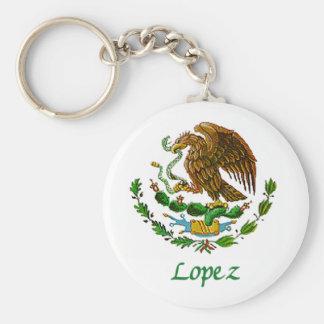 Sello nacional mexicano de López Llavero Redondo Tipo Pin
