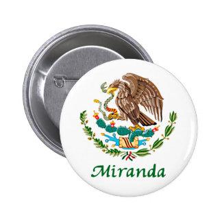 Sello nacional mexicano de Miranda Pin