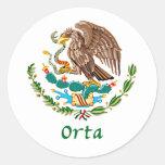 Sello nacional mexicano de Orta Etiqueta Redonda