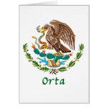 Sello nacional mexicano de Orta Felicitación