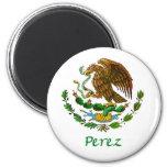 Sello nacional mexicano de Pérez Imán Redondo 5 Cm