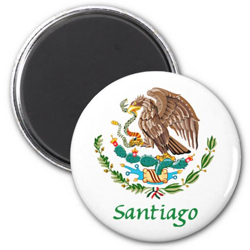 Sello nacional mexicano de Santiago Imanes De Nevera