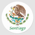 Sello nacional mexicano de Santiago Pegatinas