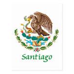 Sello nacional mexicano de Santiago Postal