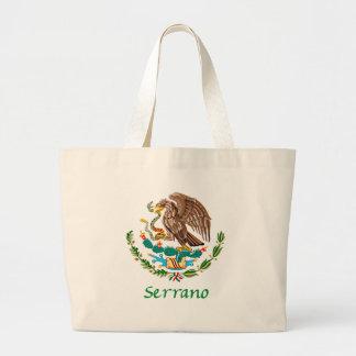 Sello nacional mexicano de Serrano Bolsa Tela Grande