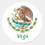 Sello nacional mexicano de Vega Etiquetas Redondas