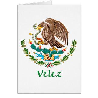 Sello nacional mexicano de Velez Tarjeta De Felicitación
