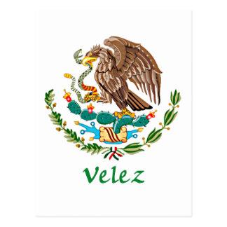 Sello nacional mexicano de Velez Tarjeta Postal
