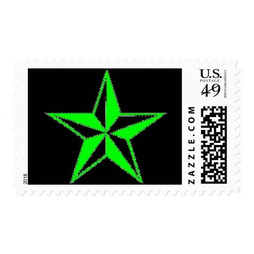 Sello náutico verde de la estrella