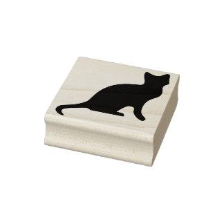 Sello negro del arte de la silueta del gatito