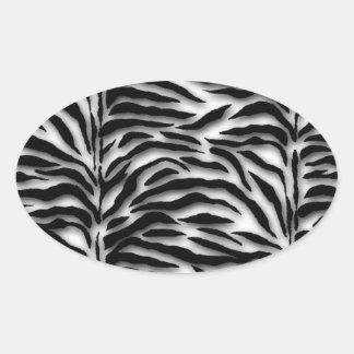 Sello negro del sobre de la cebra pegatina ovalada