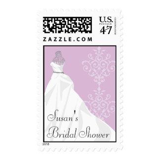 Sello nupcial de la ducha - vestido de boda