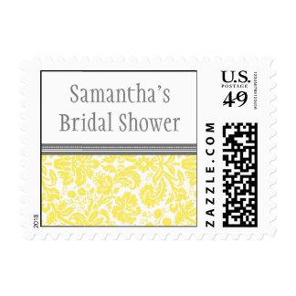 Sello nupcial del boda de la ducha del damasco gri