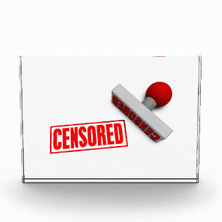 Sello o tajada censurado en el concepto de papel