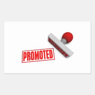 Sello o tajada promovido en el concepto de papel pegatina rectangular