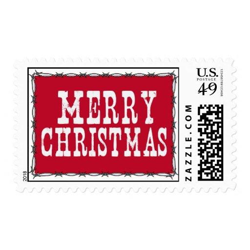 Sello occidental de las Felices Navidad
