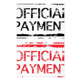 Sello oficial del Grunge del pago Papeleria De Diseño