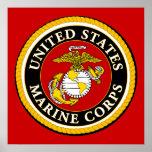 Sello oficial marino de los E.E.U.U. Impresiones