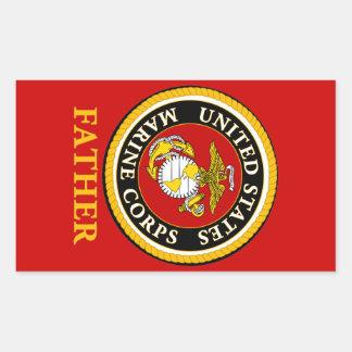Sello oficial marino de los E.E.U.U. - padre Pegatina Rectangular
