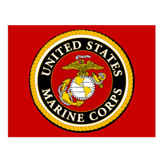 Sello oficial marino de los E.E.U.U. Postal