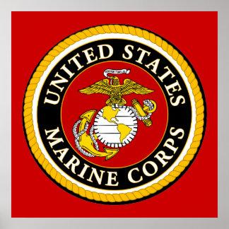 Sello oficial marino de los E.E.U.U. Póster