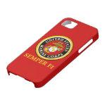 Sello oficial marino de los E.E.U.U. - Semper Fi iPhone 5 Carcasas