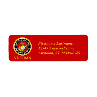 Sello oficial marino de los E.E.U.U. - veterano Etiquetas De Remite