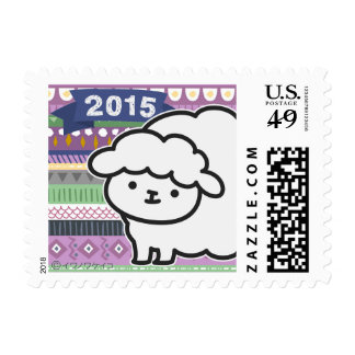 Sello - oveja del Año Nuevo