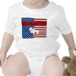 Sello patriótico conocido personalizado traje de bebé