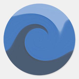 """Sello/pegatina del sobre de la """"marea azul"""" - pegatina redonda"""