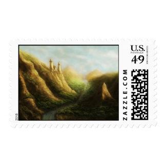 sello perdido del paisaje de la fantasía del reino
