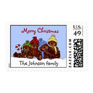 sello personalizado del navidad de la familia