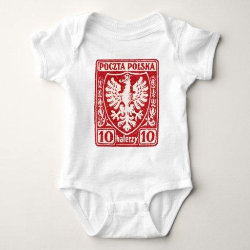 sello polaco de 1919 10h Eagle Body Para Bebé