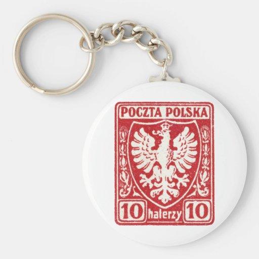 sello polaco de 1919 10h Eagle Llavero