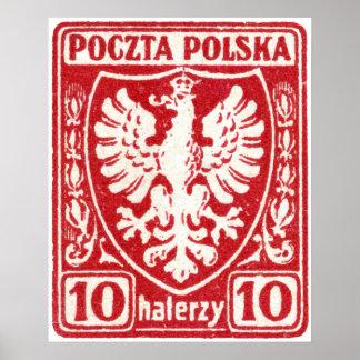 sello polaco de 1919 10h Eagle Posters
