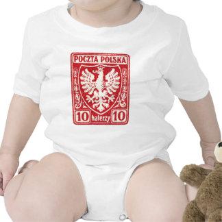 sello polaco de 1919 10h Eagle Trajes De Bebé