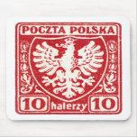 sello polaco de 1919 10h Eagle Alfombrilla De Raton