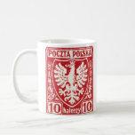 sello polaco de 1919 10h Eagle Taza